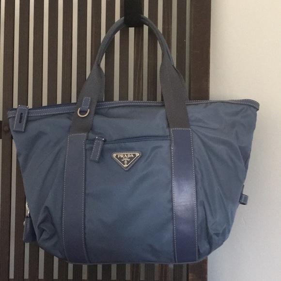 b6269aeae222 Prada Bags | Authentic Light Blue Nylon Satchel | Poshmark